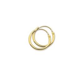 Gouden oorringetjes 15 mm