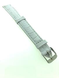 Horlogebandje 16 mm wit