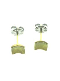 Titanium oorstekers vierkant klein goud