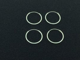 Zilveren oorringen van 1,2 x 18 mm