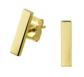 Gouden oorknopjes streep plat
