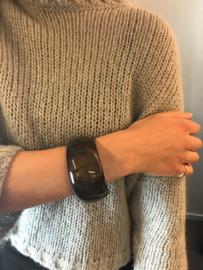 Zsiska armband rond tijgerooglook