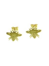 Edelstalen oorbellen bij goudkleur