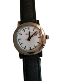 Mondaine 28 mm zwart/wit