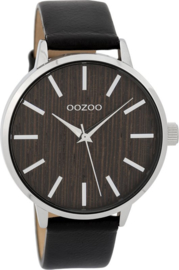 OOZOO Timepieces black nut 42 mm