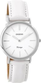 OOZOO vintage wit / zilver 32 mm