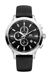 Danish Design horloge zwart 45 mm