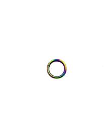 Piercing ringetje regenboog 8 mm