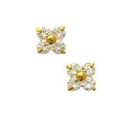 Gouden oorknopjes bloemetje