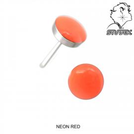 Zweerknopjes neon oranje