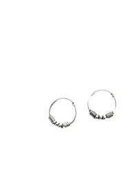 Zilveren oorringetjes bali