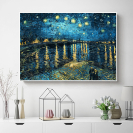 Diamond painting set avond