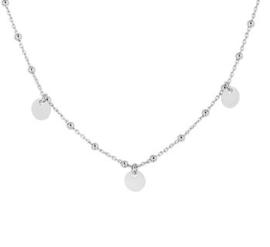 zilveren set collier en armband met ronde plaatjes