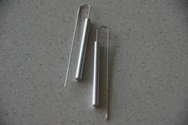 Oorbellen staaf zilver