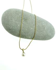 Gouden snake-collier parel