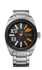 Hugo Boss Orange zilver staal 48 mm