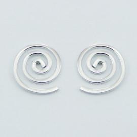 zilveren oorknopjes:spiraal