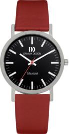 Danish Design horloge zwart/rood 35 mm