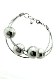 Zilveren armband met bollen