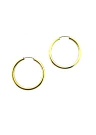 Gouden oorringen 2,9 cm