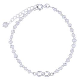 zilveren armband met parel en infinity