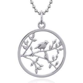 zilveren hanger vogeltjes