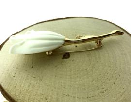 Broche witte tulp