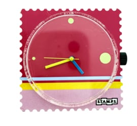 STAMPS-klokje roze schilderij