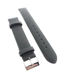 Horlogebandje 16 mm grijs/taupe
