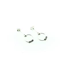 Zilveren oorstekers met bali creool