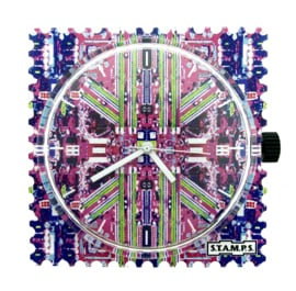 STAMPS-horloge chaotic city