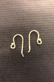Goud op zilver oorbelhaakjes