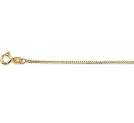 Gouden lengteketting gourmet 38 cm