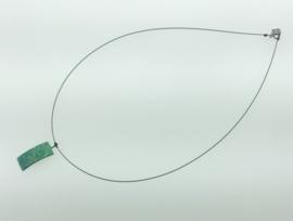 Titanium collier rechthoek groen