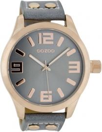 OOZOO horloge aquagrijs / rosé 46 MM