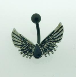 Navelpiercing vleugels
