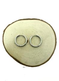 Edelstalen klapcreolen zilver 23 mm