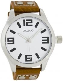 OOZOO horloge wit / bruin 46 MM