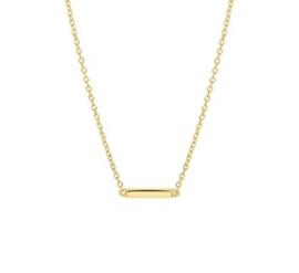 Goud op zilveren collier staaf