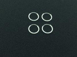 Zilveren oorringen van 1,2 x 12 mm