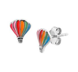 Zilveren oorstekers luchtballon
