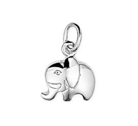 Zilveren kettinghanger olifant