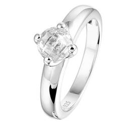 Zilveren ring zirkonia chaton