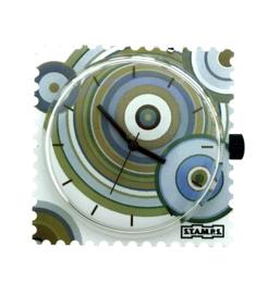 STAMPS-klokje green circles