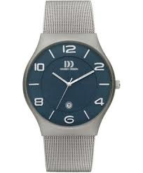 Danish Design horloge blauw 42 mm