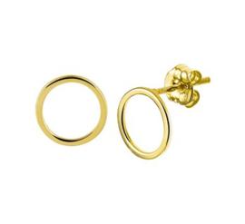 Gouden oorknopjes open cirkel