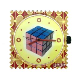 STAMPS-klokje rubiks kubus