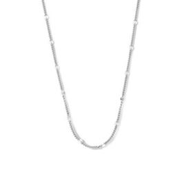 zilveren set collier en armband schakel model