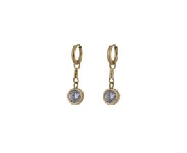GDL goudkleurige oorringen vintage crystal