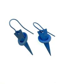 Titanium oorhangers blauw/paars